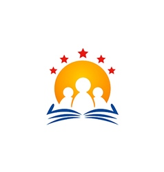 Education study star logo vector