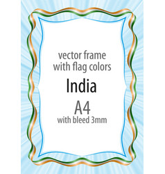 Frame and border of ribbon with the colors of the vector