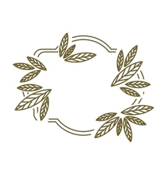 Frame leaves with branch contour vector