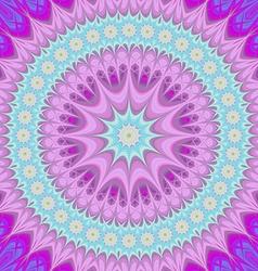 Girly mandala - abstract oriental design vector image