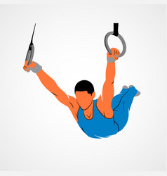 Gymnastics rings sport vector