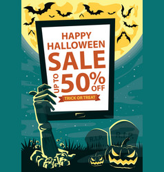 halloween sale background vector image