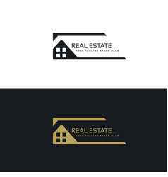 Home or house logo design in creative style vector