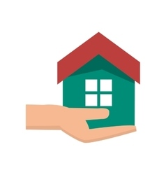 Isolated house over hand design vector