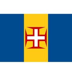 Madeira flag vector