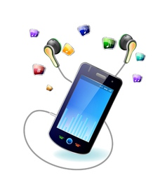 Mobile music vector