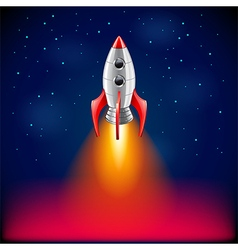 Rocket launch in space background vector image vector image