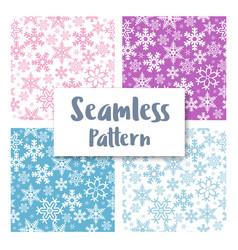 seamless christmas snowflakes vector image