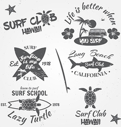Set of retro vintage badges and labels Vintage vector image