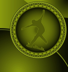 skateboard circles vector image vector image
