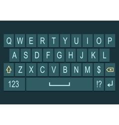 Smartphone keyboard dark with alphabet vector