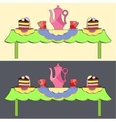 Tee break vector image vector image