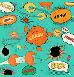 Template vintage comic speech bubbles vector