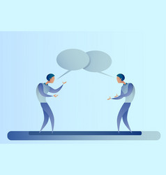 two abstract businessman talking chat box bubble vector image vector image