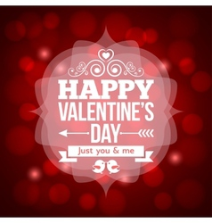 valentines day invitation design background vector image