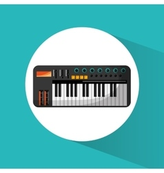 Piano instrument and music design vector