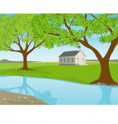 Missouri schoolhouse vector image