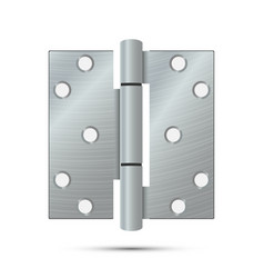 Door hinge  classic and industrial vector