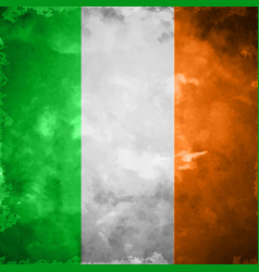 Crumpled flag of ireland vector