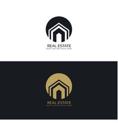 Modern real estate or house logo design concept vector