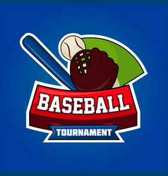 baseball tournament symbol vector image