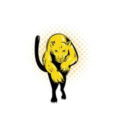 Puma Jumping vector image