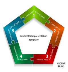 Presentation template vector