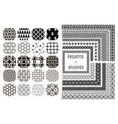 20 geometric patterns and 11 pattern vector image vector image