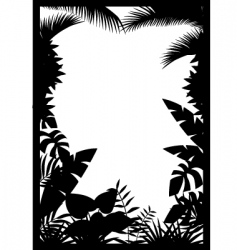 Forest silhouette vector