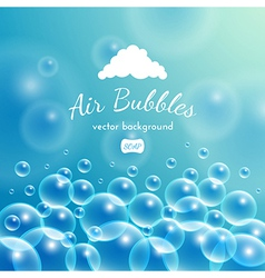Floating bubbles beautiful background vector