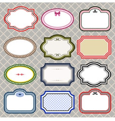 Set of retro styled frames vector