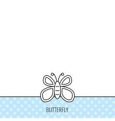 Butterfly icon dreaming sign vector