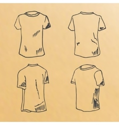 T-shirt design templates sketch vector