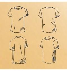 t-shirt design templates sketch vector image