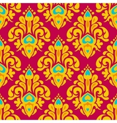 Damask festive seamless pattern vector