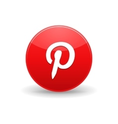 Pinterest icon simple style vector image