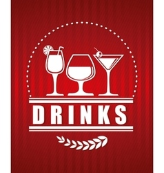 Drinks icon design vector