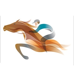 Jockey on the horse vector image