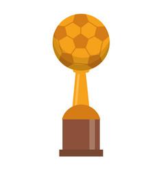 Award cup soccer sport vector