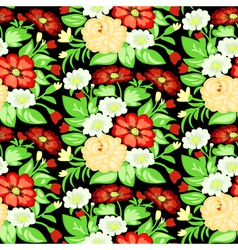 Background with a pattern of flowers vector