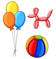 Ball and balloons vector image vector image