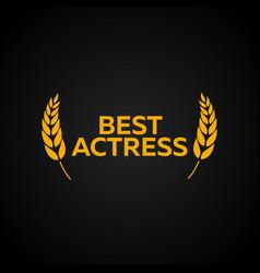Best actress laurel film awards winners film vector