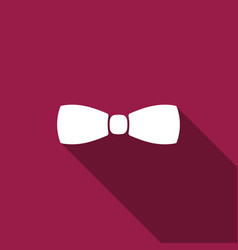 Bow tie icon isolated with long shadow vector