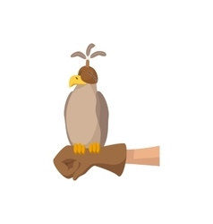 Falcon hunting cartoon icon vector image