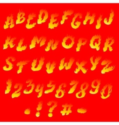 Fiery font vector image
