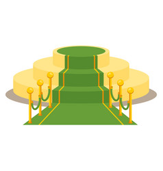 Green award carpet vector