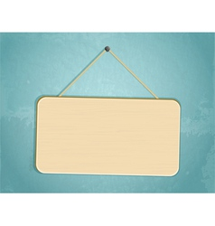 hanging sign vector image vector image