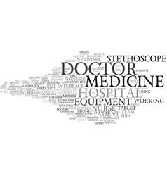 Medical word cloud concept vector