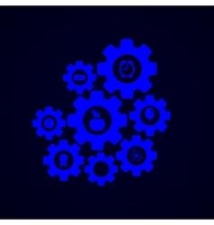 modern mechanism infographic background vector image vector image