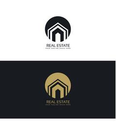 Modern real estate or house logo design concept vector